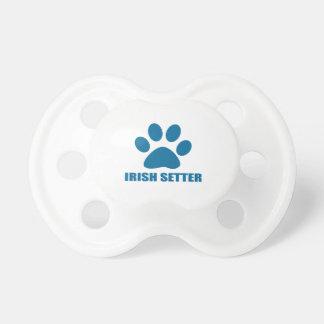 IRISH SETTER DOG DESIGNS PACIFIER