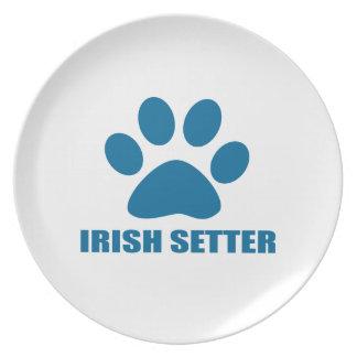 IRISH SETTER DOG DESIGNS PLATE