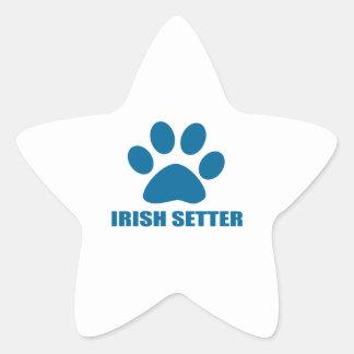 IRISH SETTER DOG DESIGNS STAR STICKER