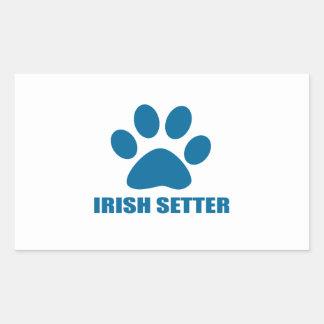 IRISH SETTER DOG DESIGNS STICKER