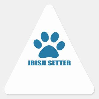 IRISH SETTER DOG DESIGNS TRIANGLE STICKER