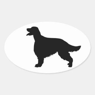 Irish Setter dog silhouette sticker, gift idea Oval Sticker