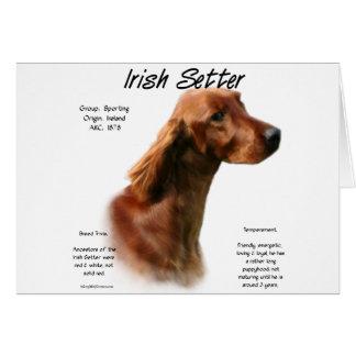 Irish Setter History Design Greeting Card
