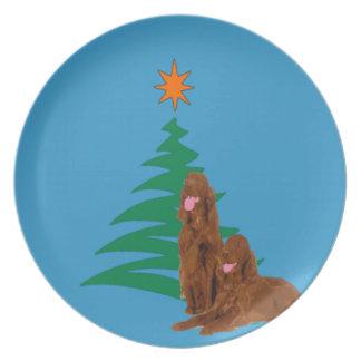 Irish Setter Holiday Plate