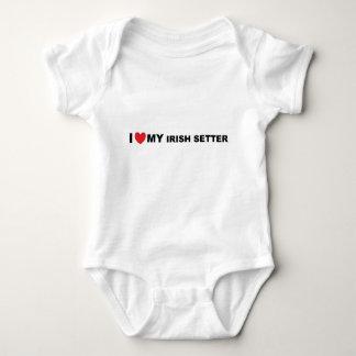 irish setter love baby bodysuit