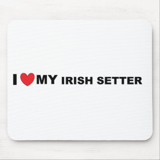 irish setter love mouse pad