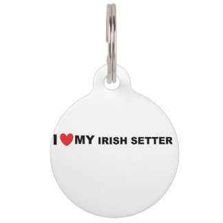 irish setter love pet ID tag
