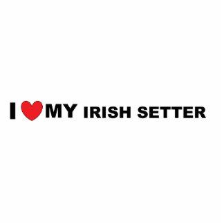 irish setter love photo sculpture keychain