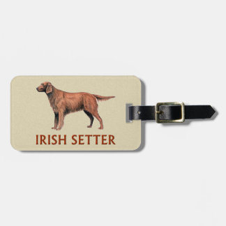 irish setter luggage tag