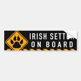 Irish Setter On Board Bumper Sticker