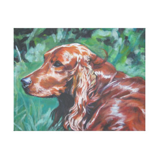 Irish Setter  Painting on Stretched Canvas