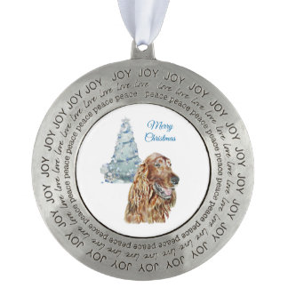 Irish Setter Pewter Ornament