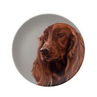 Irish Setter Plate