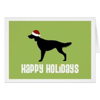 Irish Setter Santa Hat Card