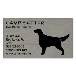 Irish Setter Silhouette Business Card Magnet