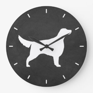 Irish Setter Silhouette Large Clock