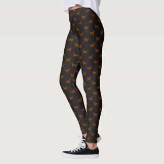 Irish Setter Silhouettes Pattern Leggings