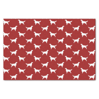Irish Setter Silhouettes Pattern Red Tissue Paper