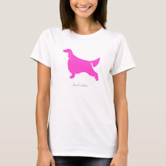 Irish Setter T-shirt (pink silhouette)