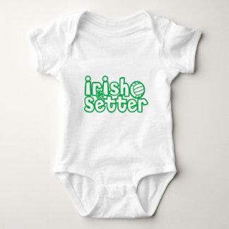 Irish Setter Volleyball Design Baby Bodysuit