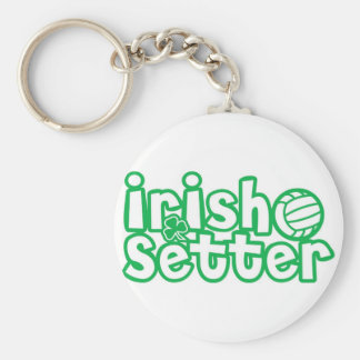 Irish Setter Volleyball Design Keychain