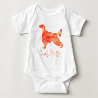 Irish Setter Watercolor Design Baby Bodysuit