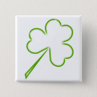 Irish Shamrock 2 Inch Square Button