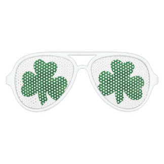 IRISH SHAMROCK AVIATOR SUNGLASSES