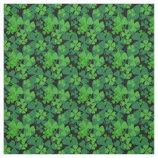 Irish shamrock, black, clover fabric print 10aa
