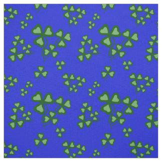 Irish shamrock, blue, green clover fabric print 9