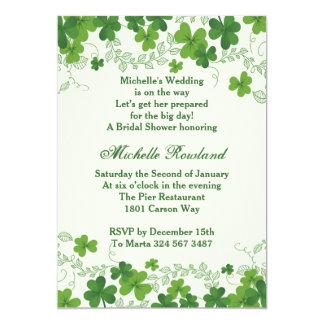 Irish Shamrock Bridal Shower Card