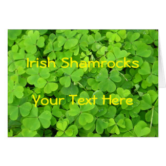 Irish Shamrock Card
