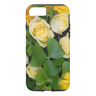 Irish Shamrock Clover and Rose Phone Case / Cover