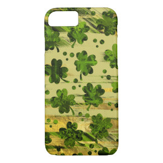 Irish Shamrock -Clover Painted Gold and Green iPhone 8/7 Case