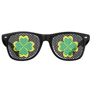 Irish shamrock cross for Saint Patrick's Day Retro Sunglasses
