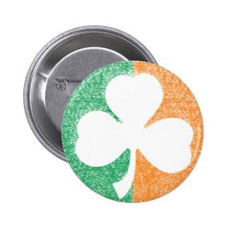 Irish Shamrock custom button