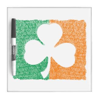 Irish Shamrock custom message boards Dry Erase Whiteboard