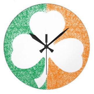 Irish Shamrock custom wall clock