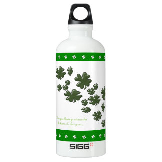 IRISH Shamrock Custom Water Bottle