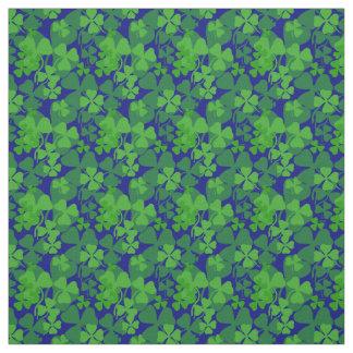 Irish shamrock,dark blue, clover fabric print 10aa