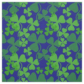 Irish shamrock, dark blue, clover  fabric print 4