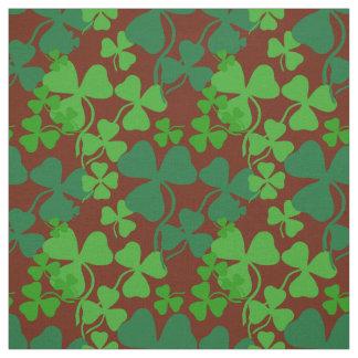 Irish shamrock, dark red, clover  fabric print 4