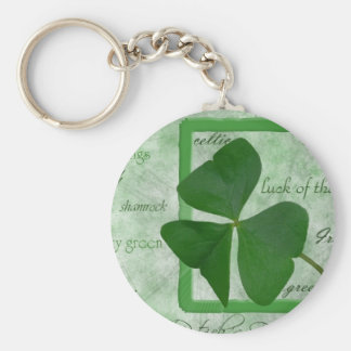 Irish  Shamrock GoodLuck Keychain