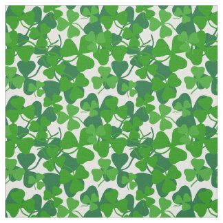 Irish shamrock, green clover fabric print