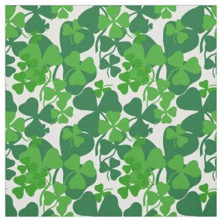 Irish shamrock, green clover fabric print 10