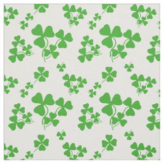 Irish shamrock, green clover fabric print 2