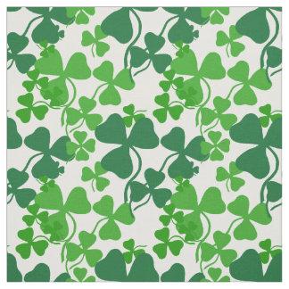 Irish shamrock, green clover fabric print 4