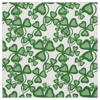 Irish shamrock, green clover fabric print 6