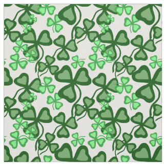 Irish shamrock, green clover fabric print 7