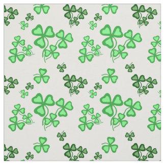 Irish shamrock, green clover fabric print 8